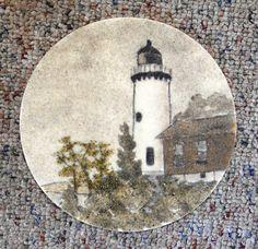 Eagle Harbor Light lighthouse original sand by NaturalEarthCraft