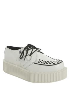 official photos 38bb8 548b2 Grab this trendy T.U.K. White Mondo Creepers. You will get 30% off right  then