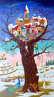 France ~ Martine Guin-Guand ~ Nestling in the Heart of the Tree