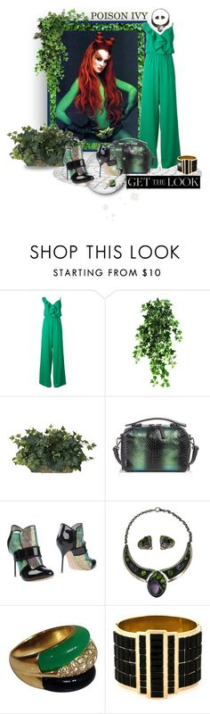 """""""Poison Ivy Inspired"""" by leanne-mcclean ❤ liked on Polyvore featuring PLANT, P.A.R.O.S.H., DANNIJO, Sophia Webster, Van Cleef & Arpels and Alexander McQueen"""