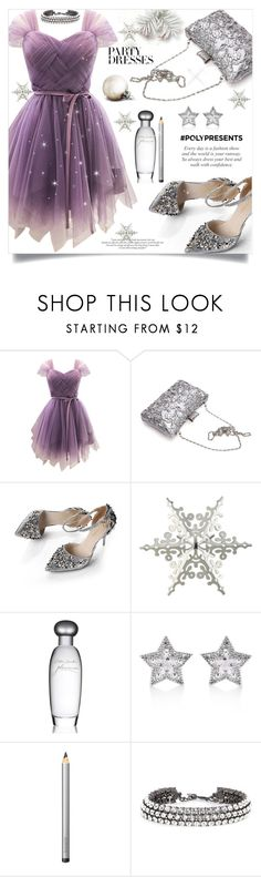 """""""#PolyPresents: Party Dresses"""" by golden-bird-love ❤ liked on Polyvore featuring WithChic, Crate and Barrel, Estée Lauder, CZ by Kenneth Jay Lane, Laura Mercier, Oscar de la Renta, contestentry and polyPresents"""