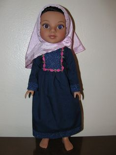 Muslim dress and hijab for Hearts for Hearts Girls or Corolle Les Cheries on Etsy, $12.00