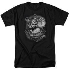 POPEYE/ANCHORS AWAY-S/S ADULT 18/1-BLACK-3X  ANCHORS AWAY   Cartoon T-Shirts   Mopixiestore.com