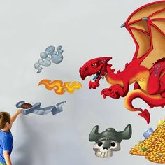Dragon Hunter wall sticker in Once Upon a Wall by Vinyl Impression