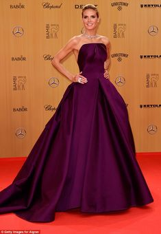 Exquisite: Heidi Klum was a knockout on the red carpet at the 67th annual Bambi Awards in Berlin, Germany on Thursday