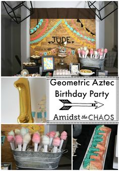 Geometric Aztec Birthday Party | Amidst the Chaos