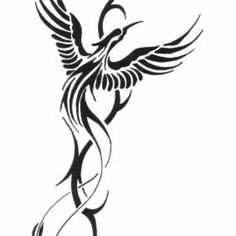 dessin-tatouage-tribal-phoenix.jpg (1024×1024)