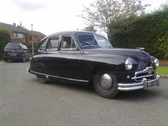 Standard Vanguard - My dad's first car, sat on his lap & steered it once! Cars Uk, All Cars, Vintage Cars, Antique Cars, Classic European Cars, Vintage Caravans, Classic Mercedes, Car Vehicle, Police Cars