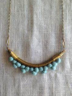 The FRANKIE Necklace Color Study No. por NestoftheBluebird en Etsy, $48.00