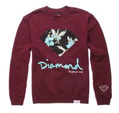 Shop for Chill Floral Crew Fleece by Diamond Supply Co. Dope Outfits, School Outfits, Skater Outfits, Diamond Clothing, Under Armour, Diamond Supply Co, Sweater Jacket, Swagg, Sweater Weather