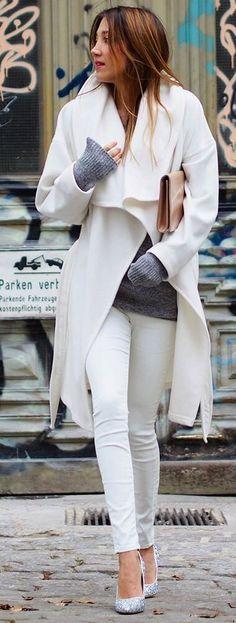 White coat and white pants