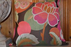 Love it! They're having a big sale too!  wild flower pillow cover by THEPILLOWDEN on Etsy, $44.00