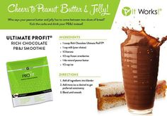 It Works ProFit Shake Recipes peanut butter and jelly