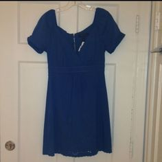 BCBG blue dress NWT Medium blue BCBG dress! Super cute, just too big for my flat chest! BCBGMaxAzria Dresses