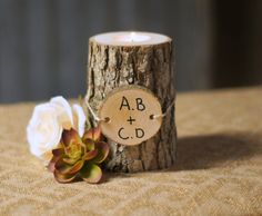 Personalized Candle Holder - Rustic Home Decor Personalized Gifts - Personalized gift her Him - Father Gift - Brother Gift - Boyfriend Gift