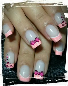 Nails Butterfly Nail Art, Wedding Nails Design, French Tip Nails, Cute Nail Art, Hot Nails, Gel Nail Designs, Perfect Nails, Summer Nails, Finger