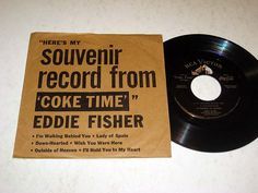 "souvenir record from ""Coke Time"" with Eddie Fisher"