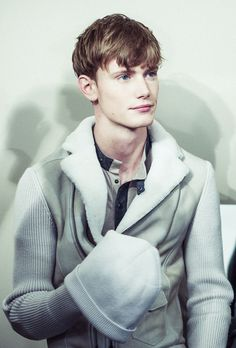 Malcolm De Ruiter ph Morgan O'Donovan backstage at Bottega Veneta F/W 2014