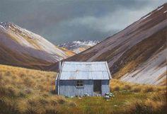 Wanaka Fine Art Gallery, Central Otago New Zealand Central Otago, Canterbury, Fine Art Gallery, Abandoned Places, Sheds, Landscape Art, New Zealand, Destinations, Design