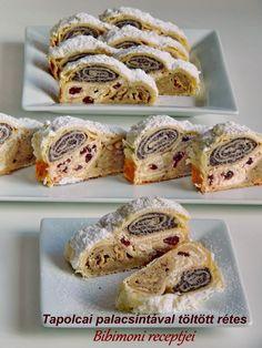 Bibimoni - Tapolcai palacsintával töltött rétes Russian Cakes, Cake Recipes, Dessert Recipes, Hungarian Recipes, Sweet And Salty, Nutella, Fudge, Bakery, Muffin