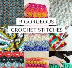 9 Gorgeous Crochet Stitches | Crochetz.com