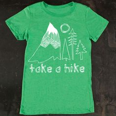 Fab.com | Take A Hike Womens Tee Green