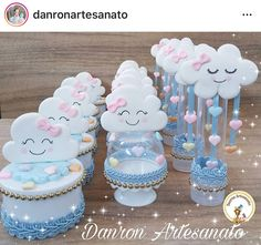1st Birthday Cake For Girls, Baby Birthday Cakes, Sweet 16 Birthday, Rainbow Parties, Rainbow Birthday Party, Birthday Parties, Baby Shower Themes, Baby Boy Shower, Cloud Party