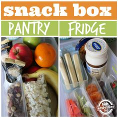 Make a pantry and fridge snack box so kids have healthy choices...and you don't have to deal with a battle!