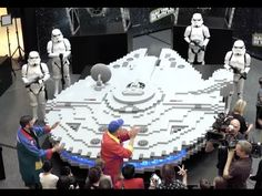 World's Largest LEGO Millennium Falcon Built Using 250,000 Bricks by Master Builders & Australians for May the 4th