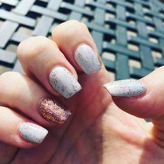 Rose gold and grey nails