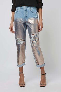 MOTO Metallic Hayden #jeans - Topshop