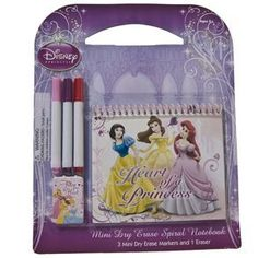 Disney Princess Mini Dry Erase Set by Century Novelty. $2.59. Your Princess Will Live Happily Ever After With Disney Princess Gifts. Make all of her princess visions come true with this Disney Princess Mini Dry Erase Set! This Disney Princess set makes a perfect birthday gift, party favor, or school supply for your children. The princess dry erase board includes some of our all time favorite princesses such as, Snow White, Belle and Ariel! 5 piece set. Package include...