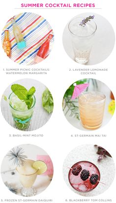 Summer Cocktail Recipe Ideas / Oh So Beautiful Paper