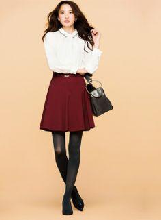 甘スカートは白シャツINできりっと見せて! | ファッション コーディネート | with online on ウーマンエキサイト