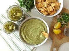 Quick-Pickled Jalapeños and Cilantro Jalapeño Hummus.