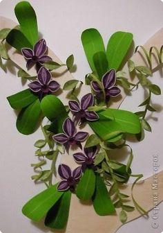 Картина, панно, рисунок Квиллинг: Орхидеи по МК Ольги К Бумага. Фото 1