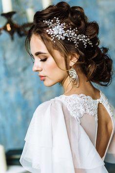 Bridal Hair Vine, Bridal Headpiece, Pearl Wedding Hairpiece, Wedding hair vine, Wedding hair accesso