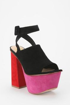 Candy colored platforms #urbanoutfitters #platform #suede