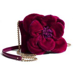 kate spade new york 'deluxe plush skipper' velvet crossbody bag ($129) found on Polyvore