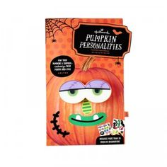 Pumpkin Personalities comes with a pair of light-up eyes that you poke into a pumpkin and 17 stick-on noses, mouths, eyes, and accessories.