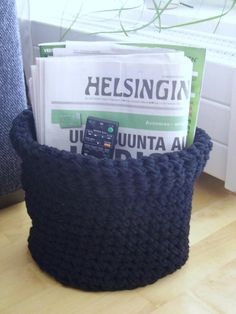 Tee-se-itse-naisen sisustusblogi: Crocheted Basket