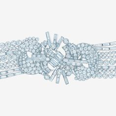 Tiffany's treasure trove of jewels from the 1920s inspired this bracelet of baguette and round brilliant diamonds.