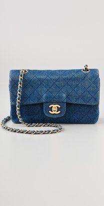 Vintage Chanel Quilted Denim Bag