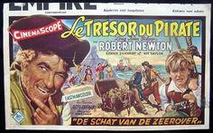 Belgian movie posters | LONG JOHN SILVER 1954 RARE Belgian Movie poster - Long John Silver ... Vintage Movies, Vintage Posters, Robert Newton, Long John Silver, Original Movie Posters, Treasure Island, Travel Posters, Baseball Cards, The Originals