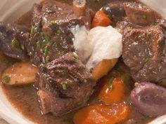 """Short Rib Stew with Vegetables and Port (Farmer's Feast) - Nancy Fuller, """"Farmhouse Rules"""" on the Food Network."""