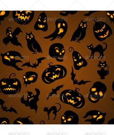 Halloween Seamless Pattern  #GraphicRiver         Halloween seamless pattern with pumpkin, cat, bat, ghost, skull, etc     Created: 24August13 GraphicsFilesIncluded: JPGImage #VectorEPS Layered: No MinimumAdobeCSVersion: CS Tags: background #bat #black #bone #cat #decoration #design #element #fear #ghost #grave #halloween #holiday #icon #illustration #pattern #pumpkin #scary #seamless #silhouette #skull #spider #spooky #texture #traditional #vector #wallpaper #yellow