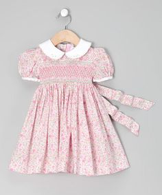 Take a look at this Pink Roma Floral Smocked Dress - Infant, Toddler & Girls by Emily Lacey on #zulily today!