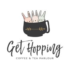 Premade Logo - Rabbits in Mug Premade Logo Design - Customized with Your Business Name!