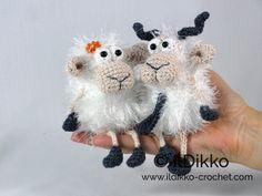Baarney and Baarb the Sheep - Amigurumipatterns.net