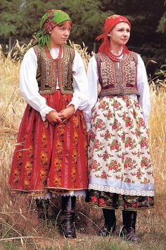 FolkCostume&Embroidery: Costume of western Krakow region.  My gt. grandmother gave me a doll dressed this way and told me it was how they dressed when she was little.